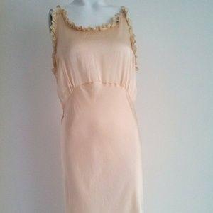 30s 40s Vintage butter soft silk bias nightgown